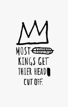 Basquiat - Most kings - Blanc
