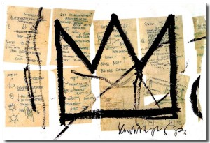 Couronne - Basquiat - Blanc