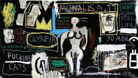 Mona lisa - Basquiat- Noir