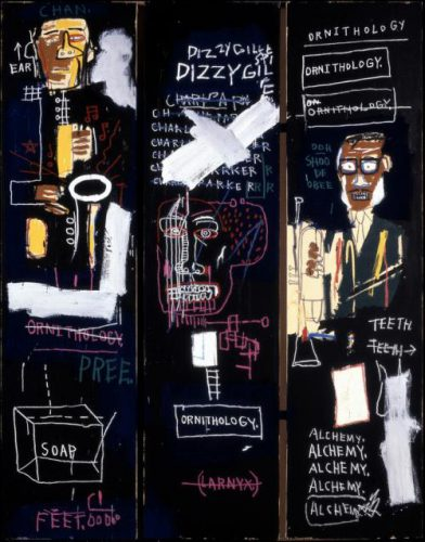 Basquiat - Horn players - Noir